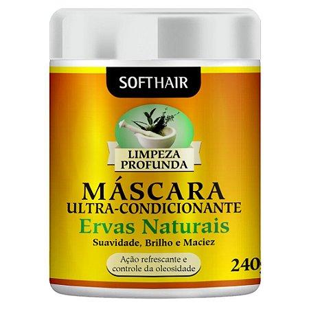 Máscara Ultra Hidratante Ervas Naturais Softhair 240g