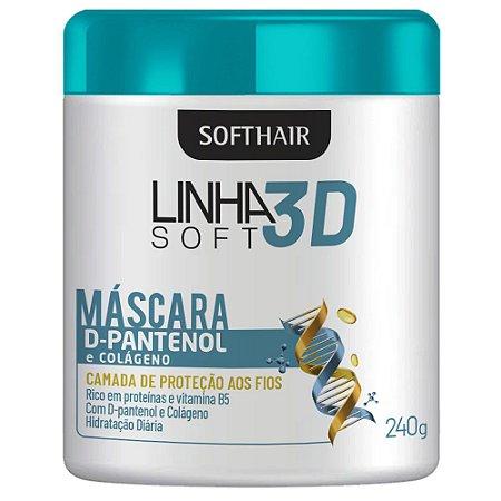 Linha 3D Softhair Máscara D-Pantenol E Colágeno 240g