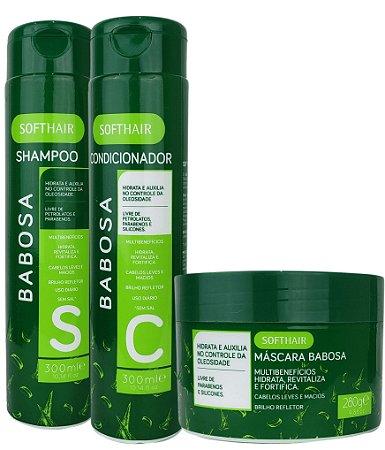 Softhair Kit Babosa Multibenefícios Auxilia No Controle Da Oleosidade