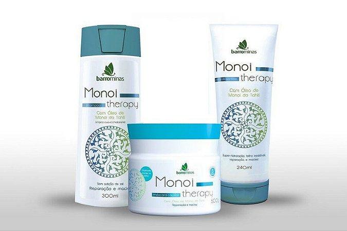 Kit Monoi Therapy Shampoo ,Máscara E Creme De Pentear Barrominas