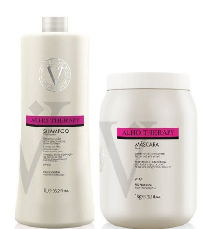 Kit Shampoo E Máscara Alho Therapy Varcare Vip Line Collection 1Kg