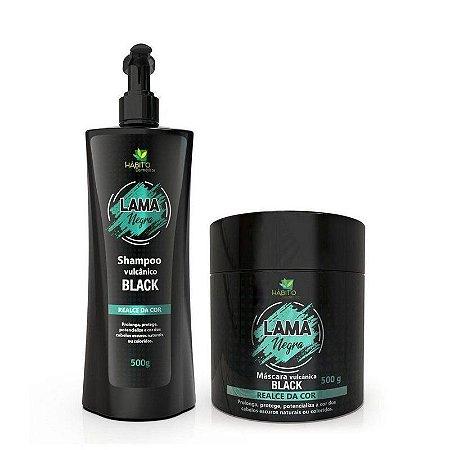 Hábito Cosméticos Kit Lama Negra Vulcânica Black Realce