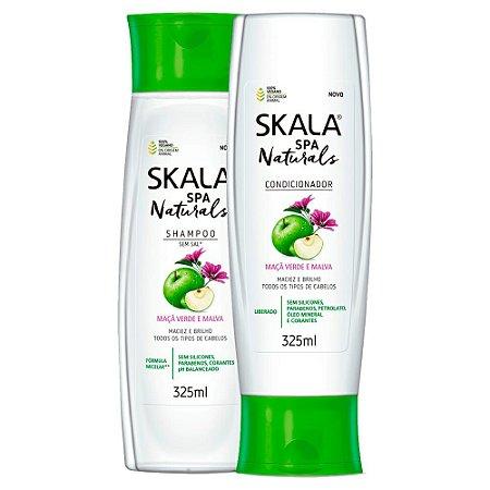 Kit Skala Maçã Verde E Malva Spa Naturals Shampoo+condicionador 325ml