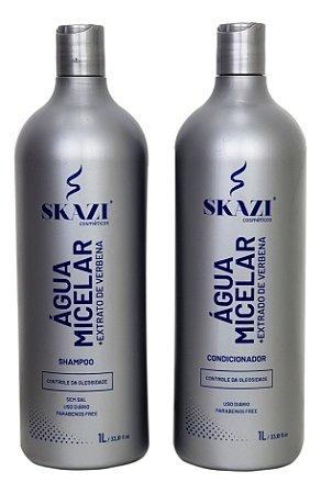 Kit skazi Água micelar + extrato de verbena Shampoo E Condicionador 1l Controle Da Oleosidade