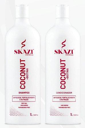 Kit Shampoo E Condicionador Coconut+Biotina Antiqueda Skazi Cosméticos