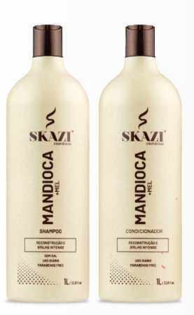Kit Skazi Mandioca E Mel Shampoo+ Condicionador 1L