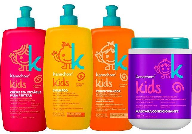 Kanechom Linha Kids Shampoo+máscara+condicionador+creme