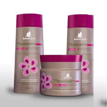 Barrominas Massageno Protect Kit Shampoo,Condicionador E Máscara