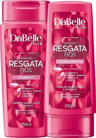 Kit DaBelle Hair Resgata Fios Shampoo E Condicionador Para Cabelos Danificados