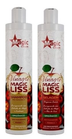 Kit Magic Color Vinagre Magic Liss Orgânico Shampoo + Selagem 300 ml