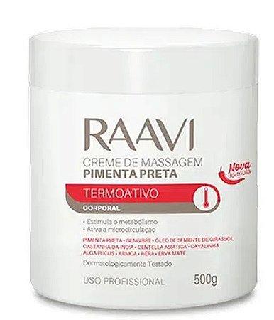 Creme De Massagem Pimenta Preta 500g Raavi Termoativo Corporal