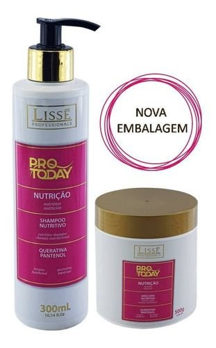 Kit Manutenção Lissé Nutrição  Pro To Day Kit Shampoo 300mL e Máscara 500g Profissionals