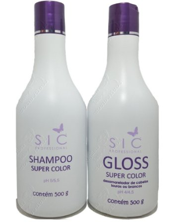 SIC Professional - Kit GLOSS Super Color Shampoo e Mascara