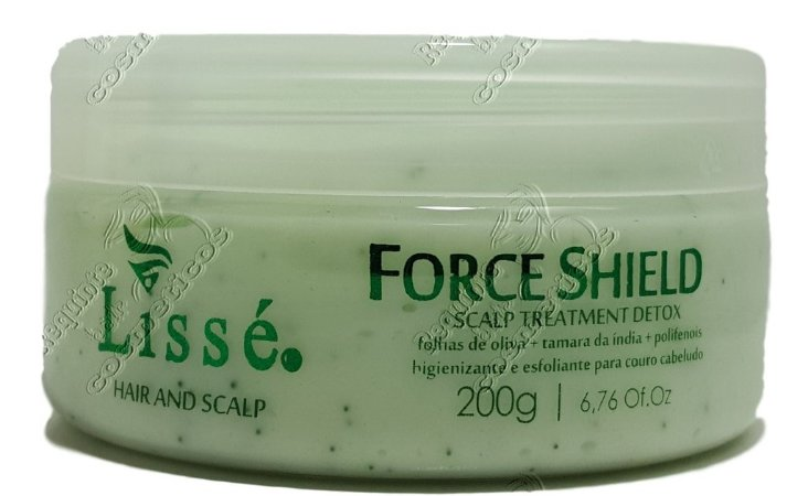 Máscara Detox Lisse Hair And Scalp Force Shield Esfoliente Couro Cabeludo