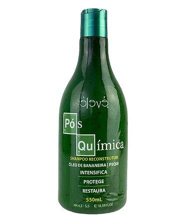 Eleve Cosméticos Shampoo Pós Química Óleo Bananeira e Pequi 550 ml