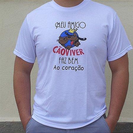 Camiseta Cão Viver