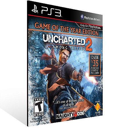 Uncharted 2: Among Thieve Goty Edition - Ps3 Psn Mídia Digital