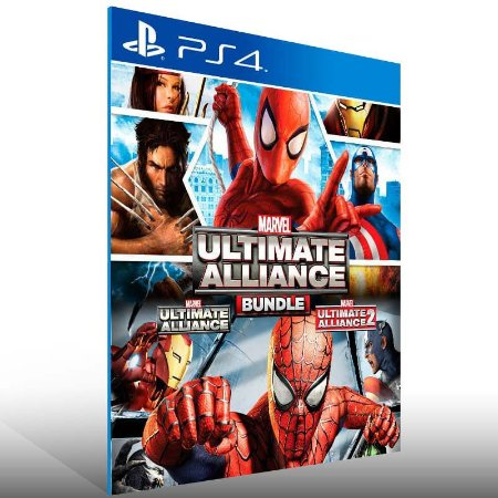 Marvel Ultimate Alliance Bundle - Ps4 Psn Mídia Digital