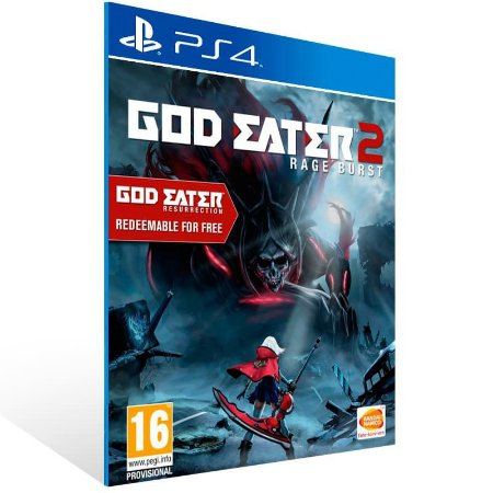 God Eater 2 Rage Burst - Ps4 Psn Mídia Digital