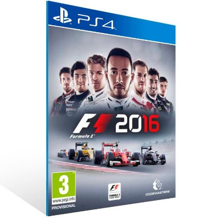 F1 2016 - Ps4 Psn Mídia Digital