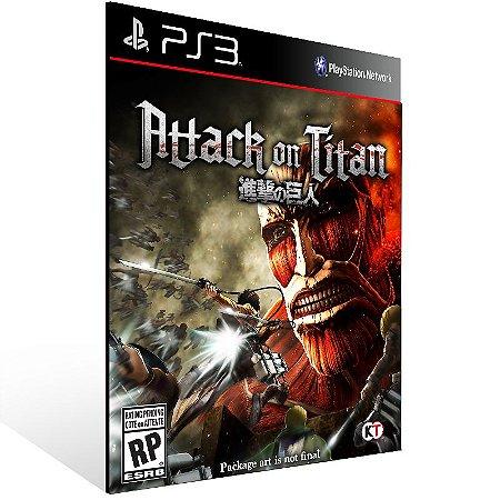 Attack On Titan - Ps3 Psn Midia Digital