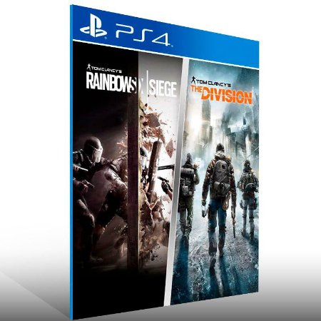 Tom Clancy's The Division And Rainbow Six Siege Bundle - Ps4 Psn Mídia Digital