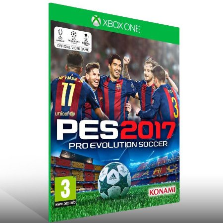 PES 17 - Xbox One Live Mídia Digital
