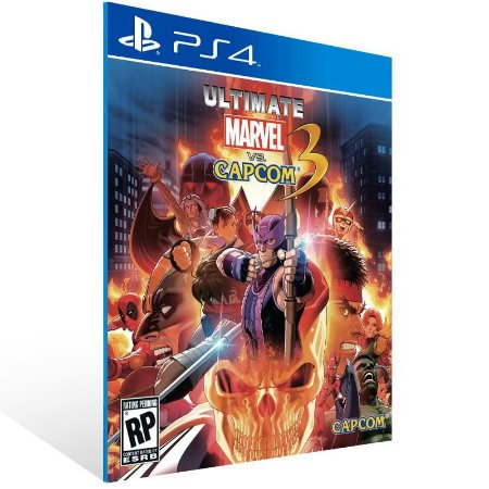 Ultimate Marvel Vs. Capcom 3 - Ps4 Psn Mídia Digital
