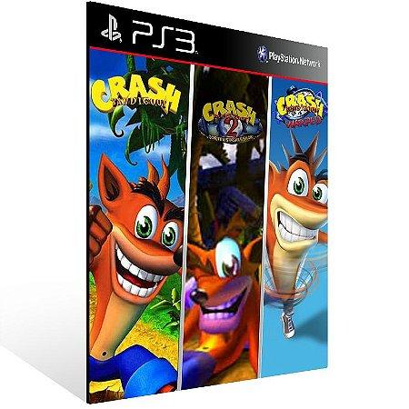 Combo Crash Bandicoot 1 2 3 - Ps3 Psn Mídia Digital