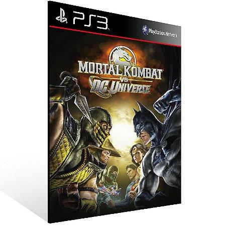 Mortal Kombat Vs. Dc Universe - Ps3 Psn Mídia Digital