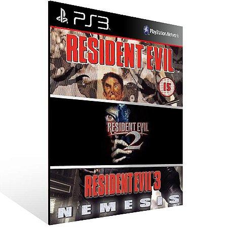 Combo Resident Evil 1 2 3 - Ps3 Psn Mídia Digital
