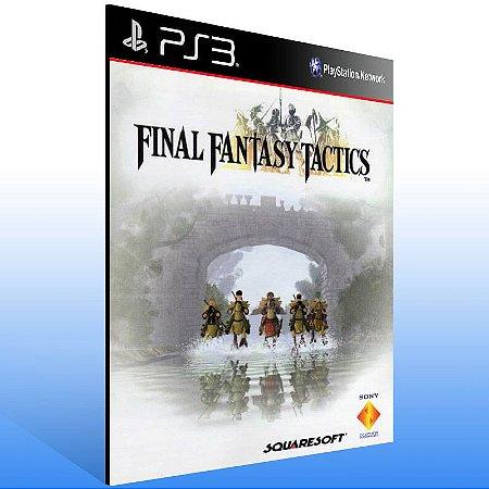 Final Fantasy Tactics (Psone Classic) - Ps3 Psn Mídia Digital