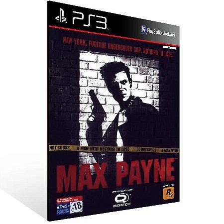 Max Payne - Ps3 Psn Mídia Digital