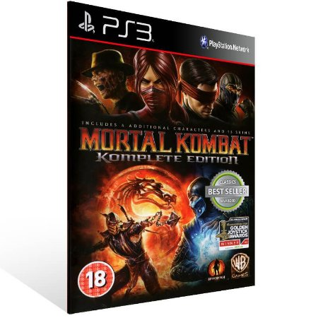 Mortal Kombat Komplete Edition - Ps3 Psn Mídia Digital