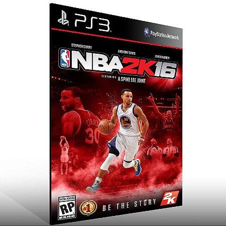 NBA 2K16 - Ps3 Psn Mídia Digital