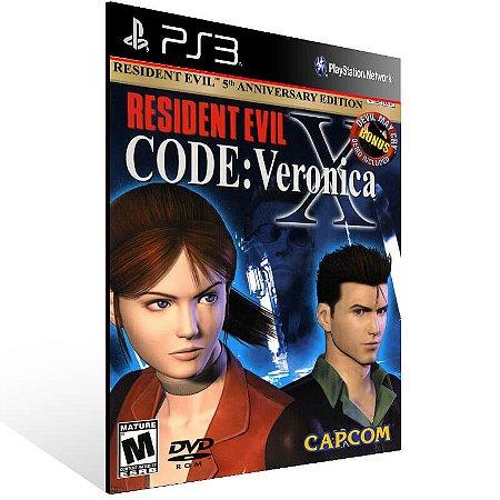 Resident Evil Code Veronica X - Ps3 Psn Mídia Digital