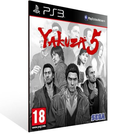 Yakuza 5 - Ps3 Psn Mídia Digital