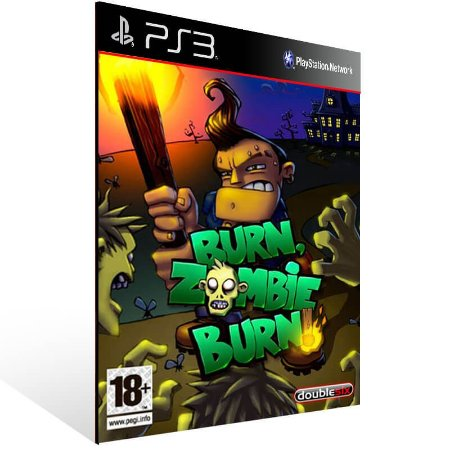 Burn Zombie Burn - Ps3 Psn Mídia Digital