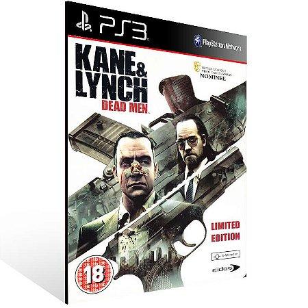 Kane Lynch Dead Men - Ps3 Psn Mídia Digital