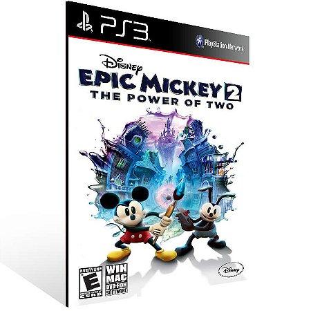 Disney Epic Mickey 2 The Power Of Two - Ps3 Psn Mídia Digital