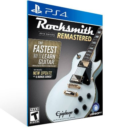 Rocksmith 2014 Edition Remastered - Ps4 Psn Mídia Digital