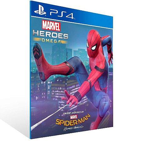 Marvel Heroes Omega Spider Man Homecoming Pack - Ps4 Psn Mídia Digital