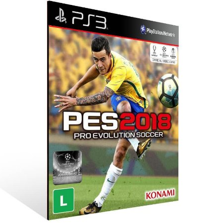 Pro Evolution Soccer 2018 Pes 18 - Ps3 Psn Mídia Digital