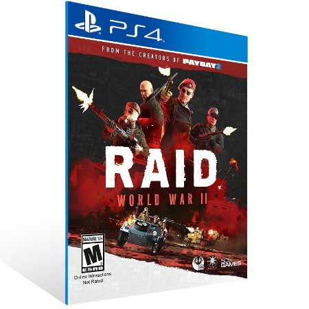 RAID World War 2 - Ps4 Psn Mídia Digital