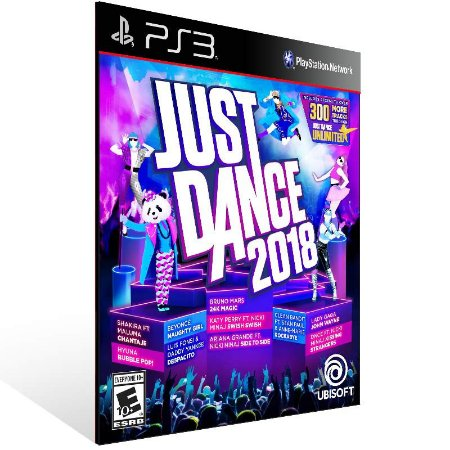 Just Dance 2018 - Ps3 Psn Mídia Digital