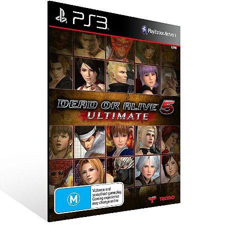 Dead Or Alive 5 Ultimate - Ps3 Psn Midia Digital