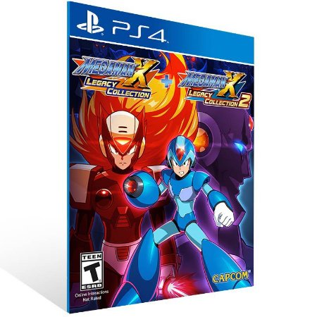 Mega Man X Legacy Collection 1+2 - Ps4 Psn Mídia Digital