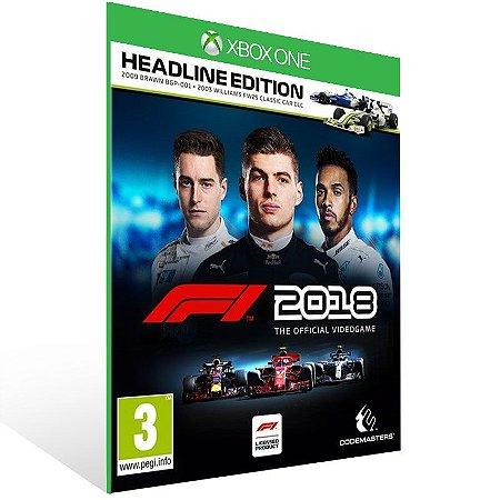 F1 2018 Headline Edition - Xbox One Live Mídia Digital