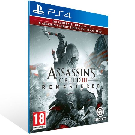 Assassins Creed 3 Remastered - Ps4 Psn Mídia Digital