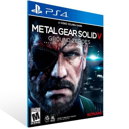 Metal Gear Solid 5 Ground Zeroes - Ps4 Psn Mídia Digital